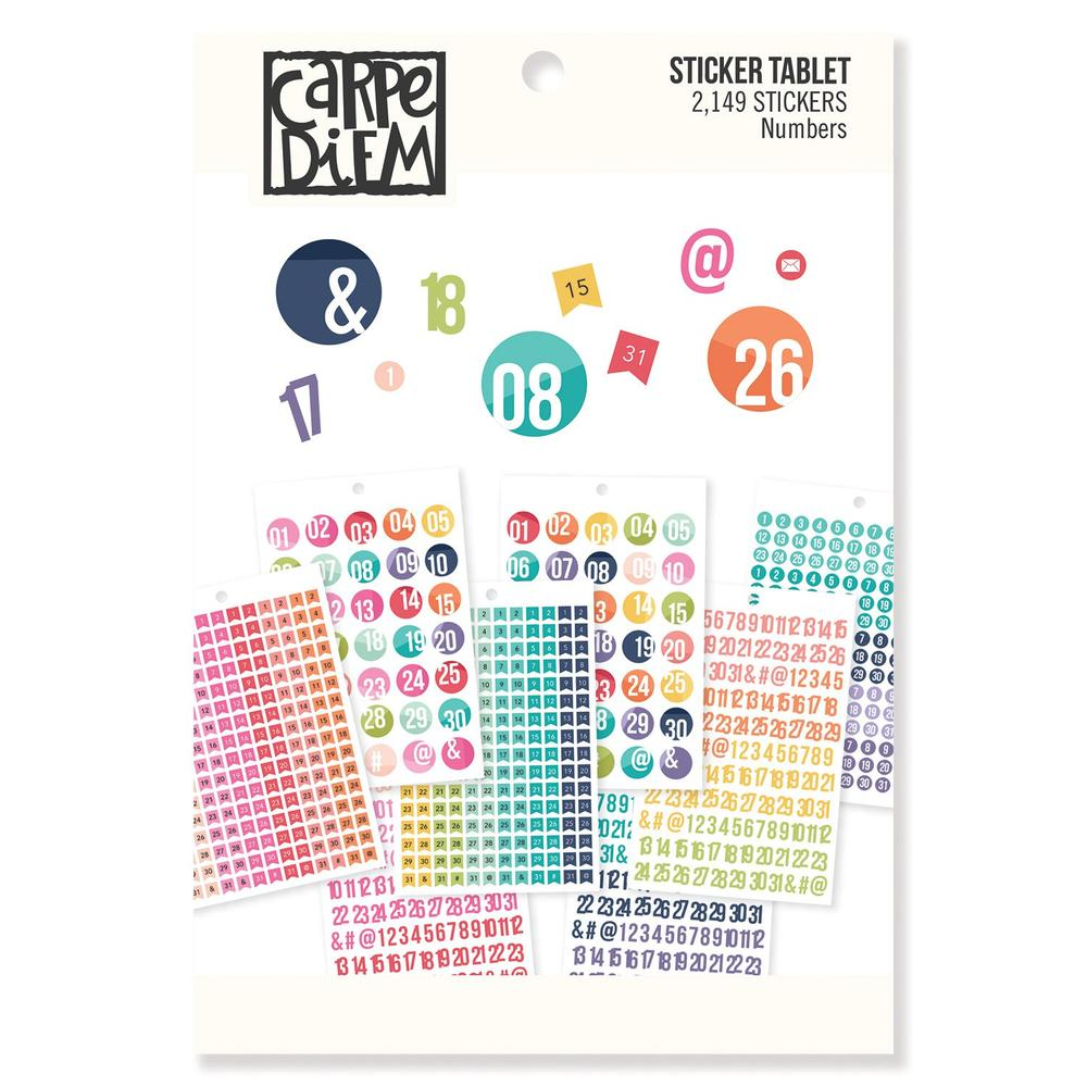 Numbers Sticker Tablet
