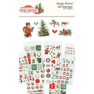 Simple Vintage Country Christmas 4x6 Sticker Book