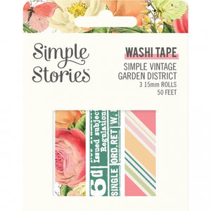 Simple Vintage Garden District Washi Tape Trio