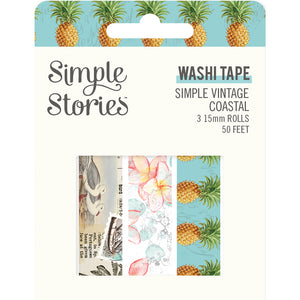 Simple Vintage Coastal Washi Tape Trio