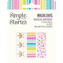 Load image into Gallery viewer, Magical Birthday Washi Tape Trio