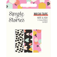 Load image into Gallery viewer, Kate & Ash Washi Tape Trio