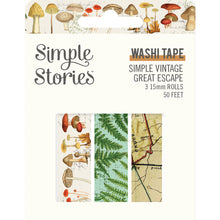Load image into Gallery viewer, Simple Vintage Great Escape Washi Tape Trio