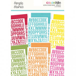 Alphabet Sticker Book - Brights