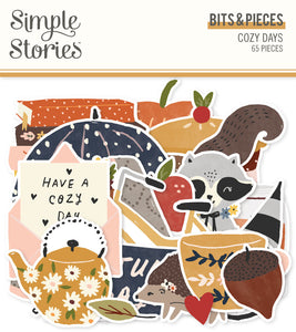 Cozy Days Bits & Pieces Die Cut Ephemera
