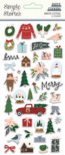 Load image into Gallery viewer, Winter Cottage Puffy Stickers
