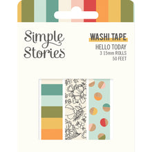 Load image into Gallery viewer, Hello Today Washi Tape Trio
