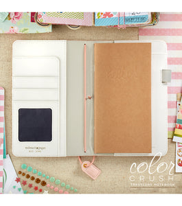 Blush Stripe Pink Traveler's Notebook