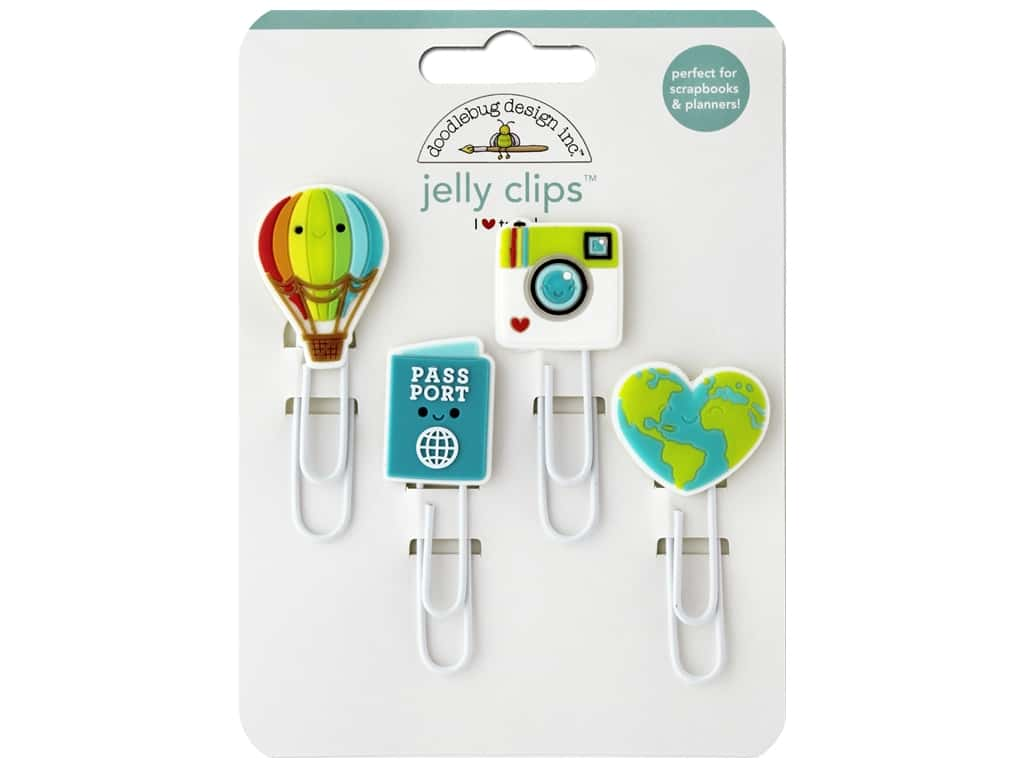 I (Heart) Travel Jelly Clips