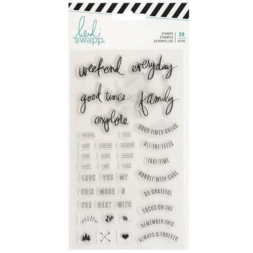Heidi Swapp Good Times Acrylic Stamps