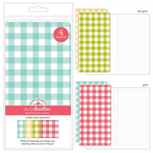 Buffalo Check Traveler's Notebook Inserts - Set of 4