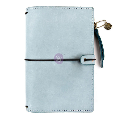Ice Blue Bonded Leather Traveler's Notebook