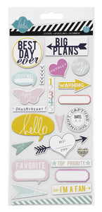 Heidi Swapp Hello Stickers