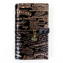 Load image into Gallery viewer, Black & Gold Traveler's Notebook