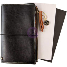 Load image into Gallery viewer, Black Bonded Leather Traveler's Notebook