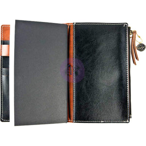 Black Bonded Leather Traveler's Notebook