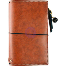 Load image into Gallery viewer, Brown Bonded Leather Traveler's Notebook