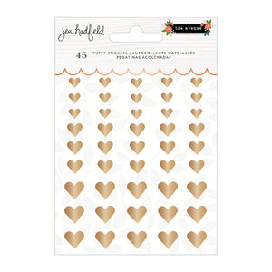 The Avenue Puffy Gold Heart Stickers