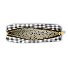 Load image into Gallery viewer, Buffalo Check/Black Gingham Slim Pencil Case