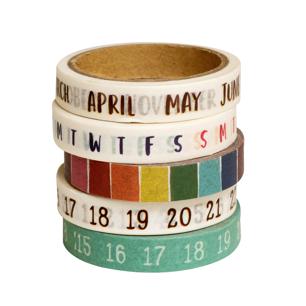 Late Afternoon Calendar Washi Tape