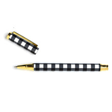 Load image into Gallery viewer, Buffalo Check/Black Gingham Metal Pen