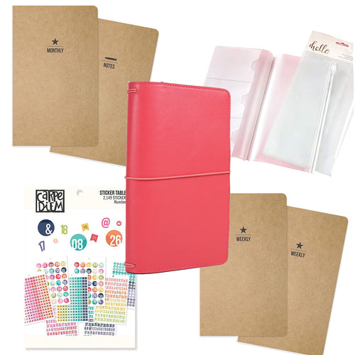 Traveler's Notebook Starter Kit - Coral