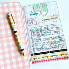 Load image into Gallery viewer, Pink Gingham Traveler's Notebook
