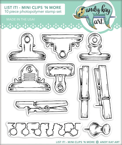 List It! Mini Clips 'N More Stamp Set