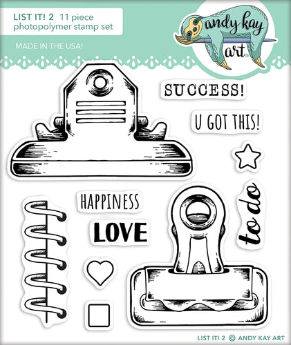List It! 2 Stamp Set