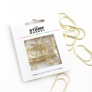 Miss Modern Large Gold Paperclips