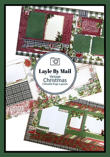 Vintage Christmas Layout Kit