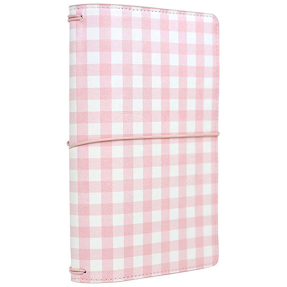 Pink Gingham Traveler's Notebook