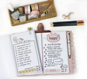Scattered Thoughts & List It Mini Clips N More Stamps Bundle