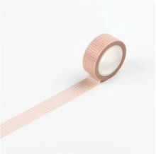 Load image into Gallery viewer, Pink Grid Washi Tape