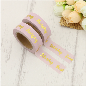 Pink Days of the Week Washi Tape