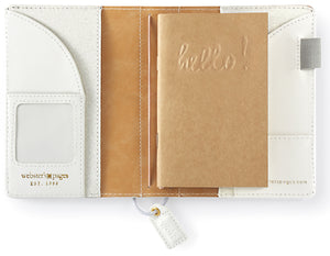 White Glitter Pocket Traveler's Notebook