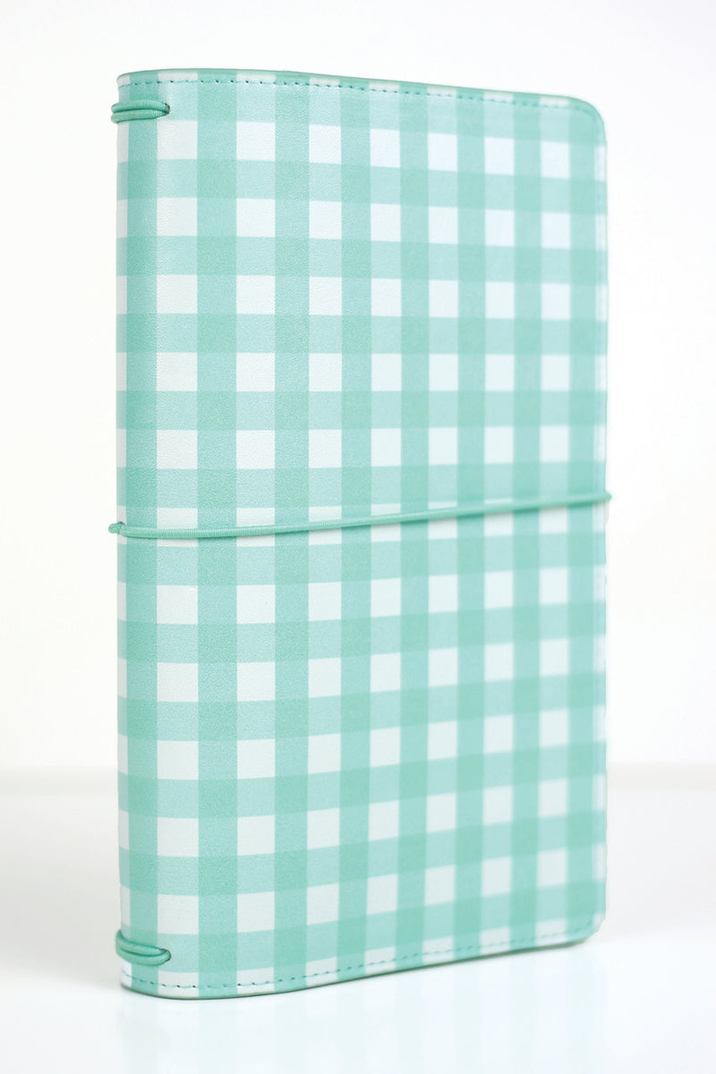 Teal Gingham Traveler's Notebook