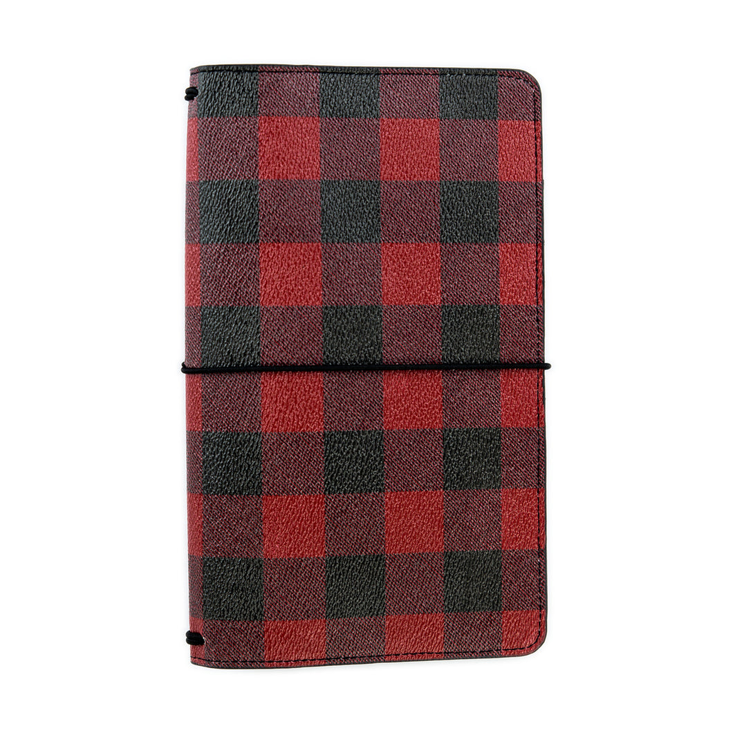 Red Buffalo Plaid Traveler's Notebook