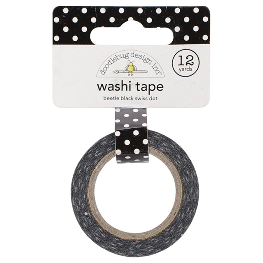 Beetle Black Swiss Dot Washi Tape