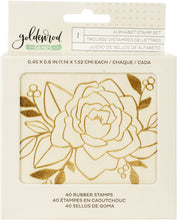 Load image into Gallery viewer, Goldenrod Wooden Alphabet Stamp Set