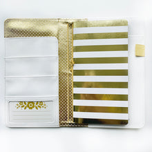 Load image into Gallery viewer, Gold Foil Scallop Traveler's Notebook
