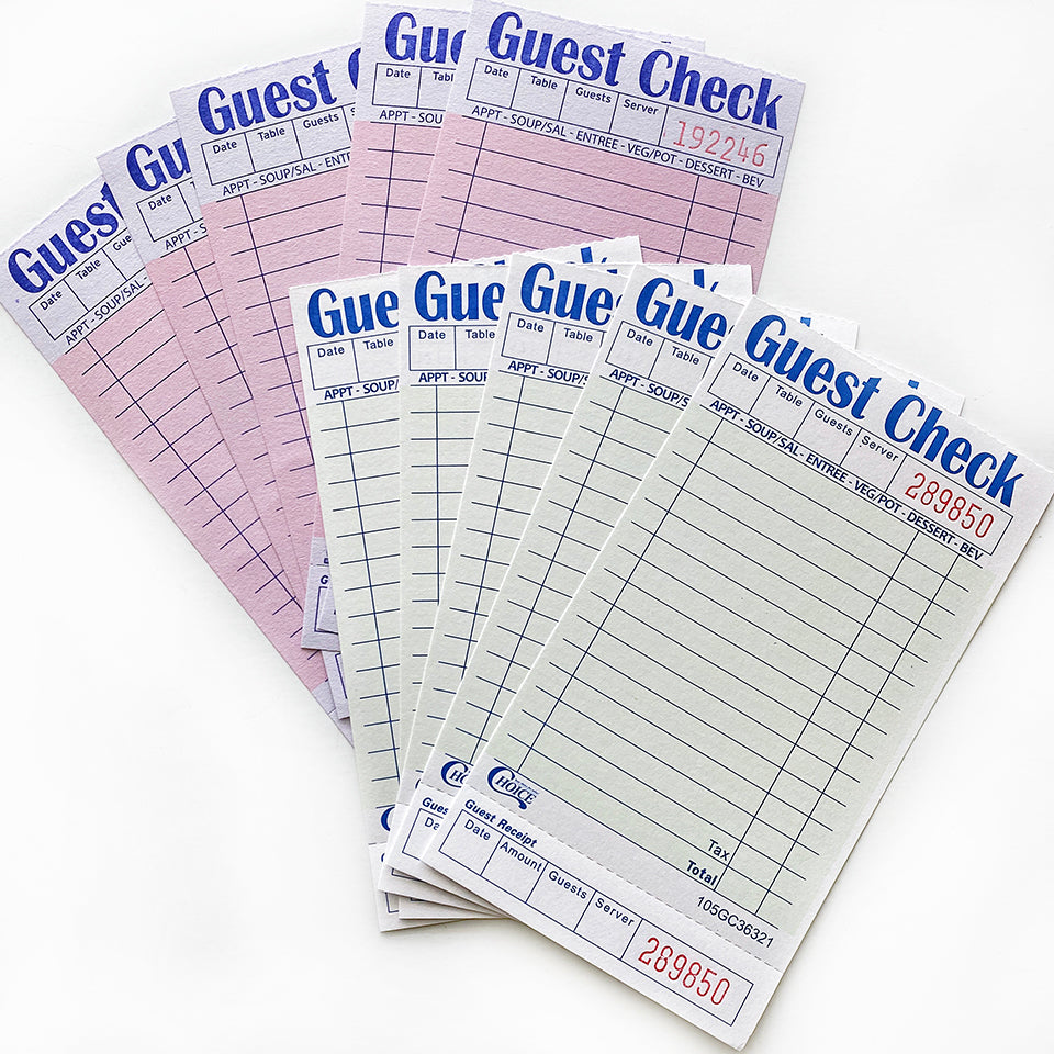 Guest Checks - 10 Pack