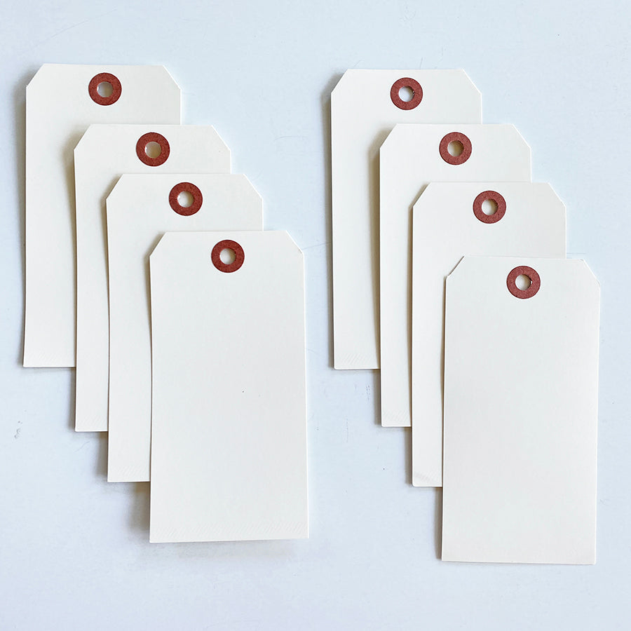 8 Pack of Large White Tags
