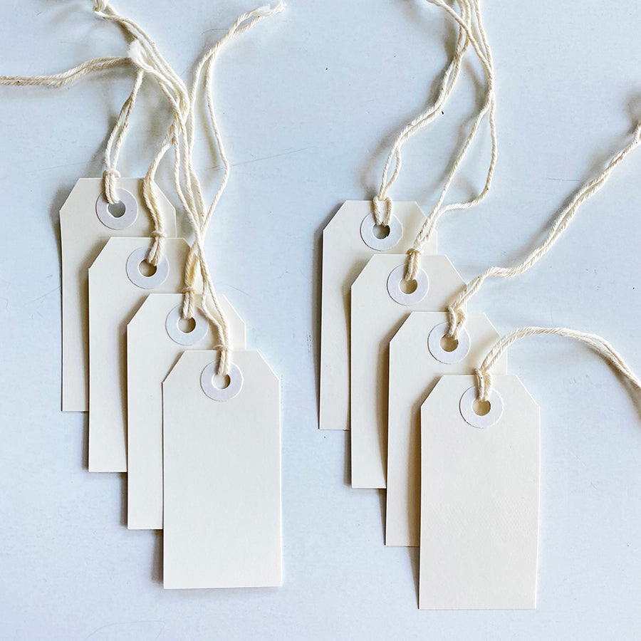 8 Pack of Small White Tags