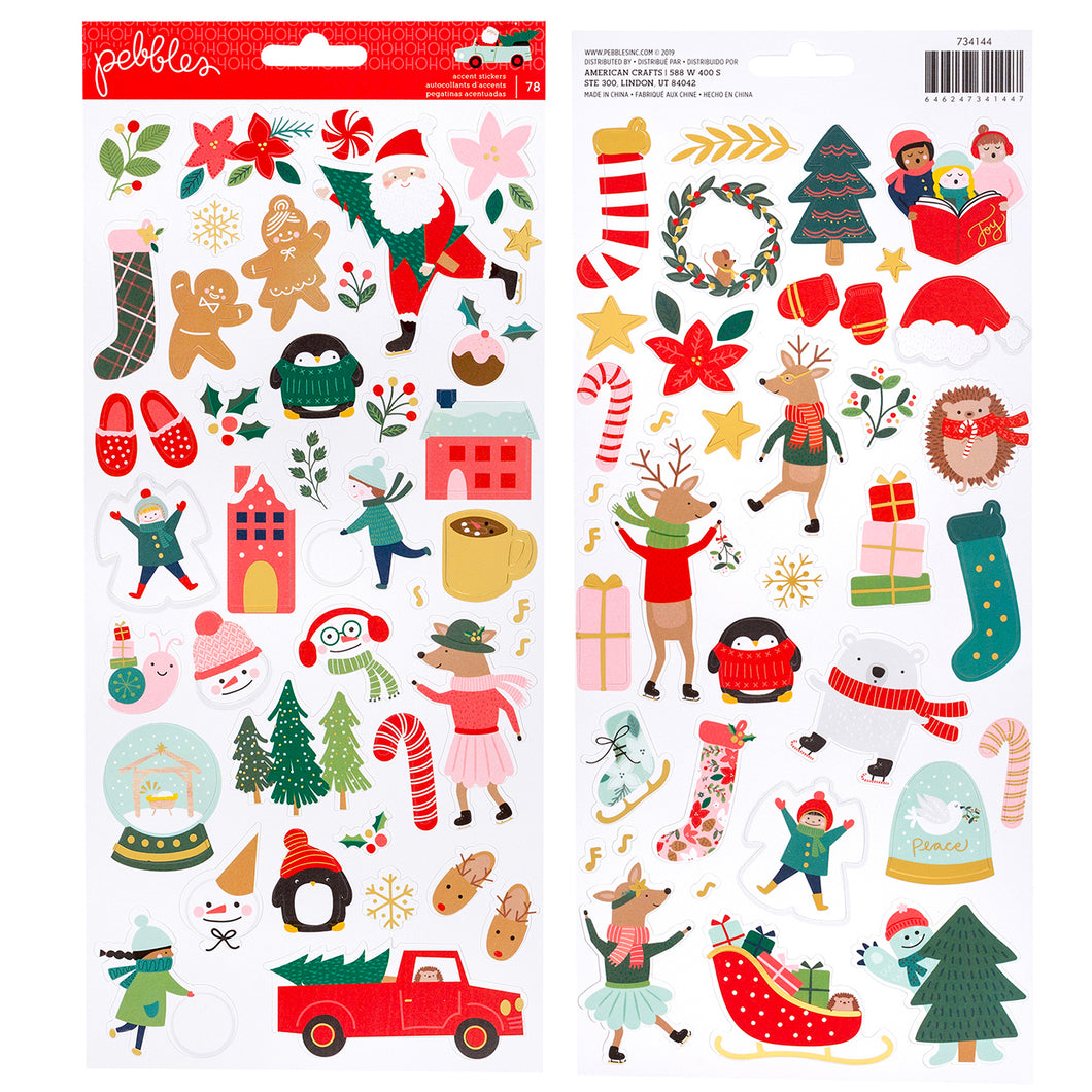 Merry Little Christmas Stickers