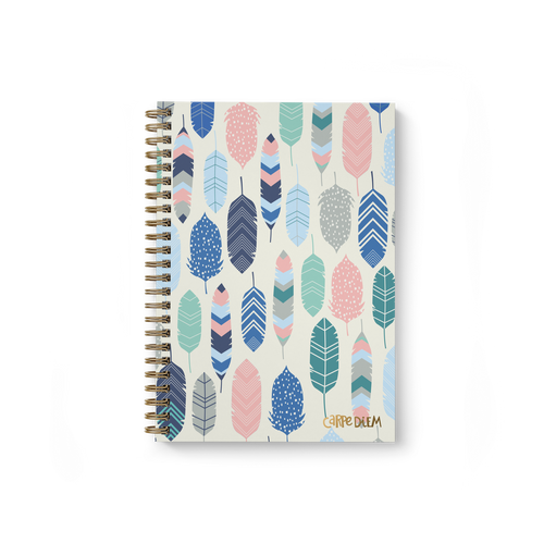 Feathers Hardcover Spiral Notebook