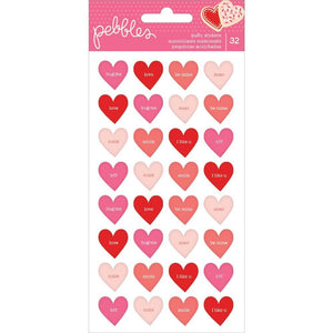 Puffy Conversation Heart Stickers