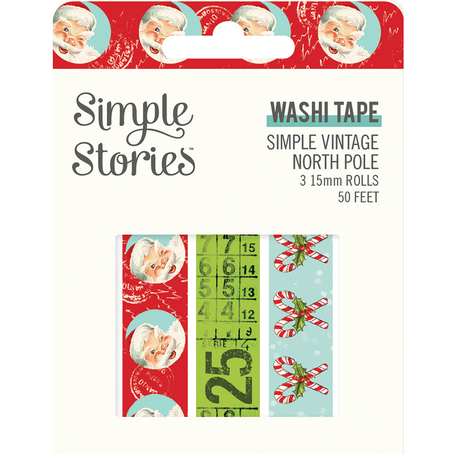 Simple Vintage North Pole Washi Tape Trio