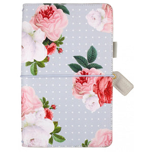 Grey Floral Traveler's Notebook
