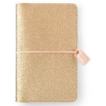 Load image into Gallery viewer, Gold Glitter Traveler's Notebook